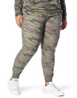 Planet Gold 154074 Women's Camo Burnout Fleece Joggers  Sz.