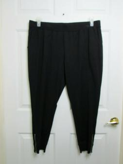 1XP Denim & Co. Active Petite Jogger Pants with Zipper Detai