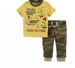 24 Month Boy Carters Explorer Graphic Tee and Camo Jogger Pa