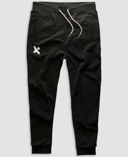 $259 H4X Men's Black Logo French Terry Joggers Active Wear S