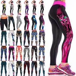 3D Womens Sports YOGA Workout Fitness Leggings Pants Jumpsui