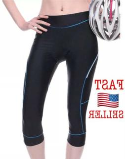4ucycling Women Premium 3D Padded Breathable ¾ Cycling Tigh