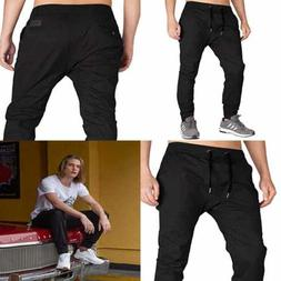 ITALY MORN Men's Chino Jogger Sweatpants Casual Pants M Blac