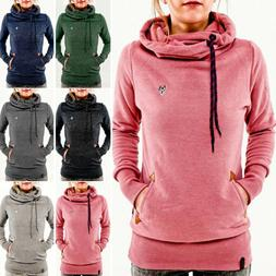 Women Winter Hoodie Sweatshirt Plain Warmers Sweat Pullover