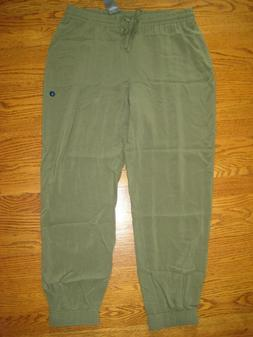 abercrombie fitch Womens Army Green Jogger Pants NWT NEW Lar