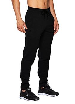 RBX Active Men's Fleece Tapered Jogger with Back Pocket Blac