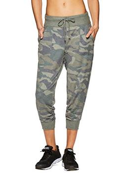 RBX Active Women's Workout Camo Jogger Green Combo Multi M