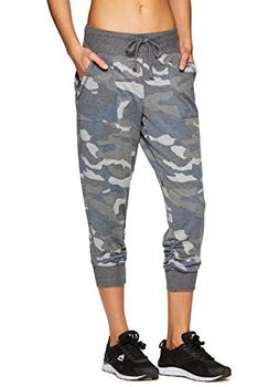 RBX Active Women's Workout Camo Jogger Grey Combo Multi S