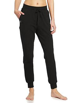 Baleaf Womens Active Yoga Lounge Sweat Pants with Pockets Bl