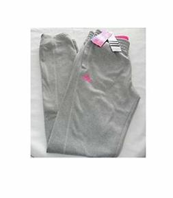 Adidas Athletic skinny fit jogger pants for girls grey/pink