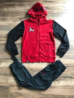 Nike Air Jordan youth boys hoodie and joggers outfit set NWT