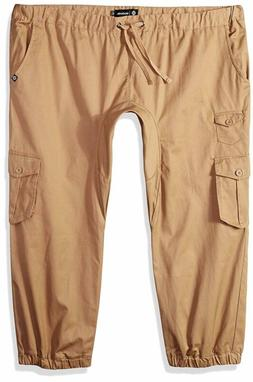 Akademiks Men'S Tall River Cargo Twill Jogger Pants