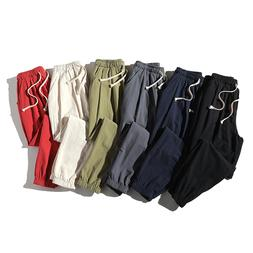 Ankle-Length Linen Plaid Pants Men Trousers Hip Hop <font><b