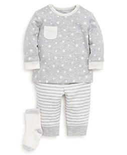 Little Me Baby Boys Jogger Set, Star Soft Heather Grey/Marsh
