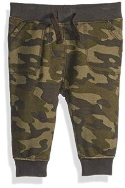 Gymboree Baby Boys Knit Jogger Pants, camo, 12-18 Mo