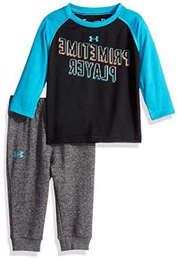 Under Armour Baby Boys Two Piece Graphic Tee and Pant Set, B