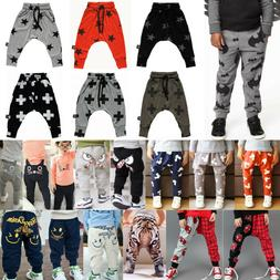baby kids toddler joggers pants casual harem
