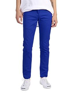 JD Apparel Men's Basic Casual Color Skinny Fit Twill Pants 3