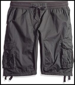 Big & Tall Men's Jogger Shorts W Cargo Pockets In Solid Camo