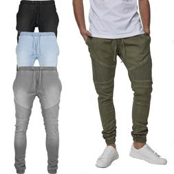 Urban Classics Biker Denim Jogging Trousers Jeans Sweatpants