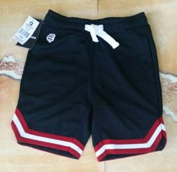 Southpole Boy's Jogger Shorts Black,  Red & White trim ~ Siz