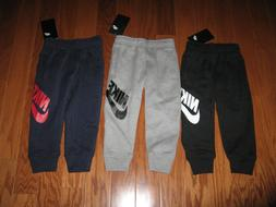 NIKE BOYS  ATHLETIC JOGGERS WITH SWOOSH SIZE 2T/3T/4T/4/5/6/