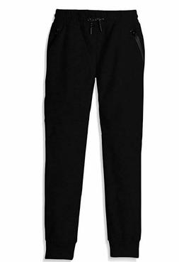 Southpole Boys' Big Tech Fleece Jogger Pants with Zipper Det