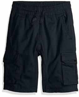 Southpole Boys' Big Twill Cargo Jogger Shorts in Basic Solid