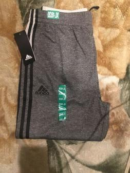Adidas Boys Extra-Large 18/20 Charcoal gray with black strip