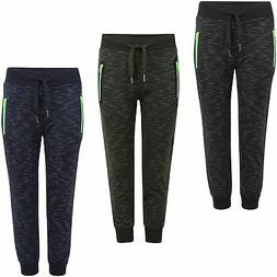 Boys Girls Kids Tracksuit Trousers Teens Bottoms Joggers Swe
