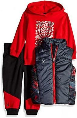 Spyder Infant Boys Red & Black 3pc Jogger Size 12M 18M 24M $