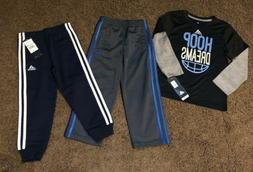 Boys Adidas Size 4 Athletic Pants Joggers Long Sleeve Shirt
