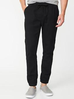 Old Navy Built In Flex Twill Joggers New $35 Black Men's XXL