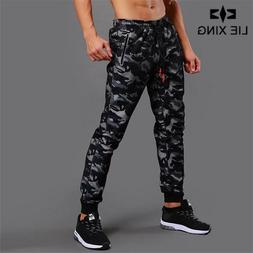 Camouflage Joggers Gym Pants Men Fitness Bodybuilding Runner