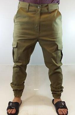 CARGO JOGGER Rustic Dime Jeans in Light Olive