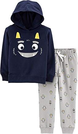Carter's Baby Boys Monster Hoodie Jogger Pants Set 12 Months