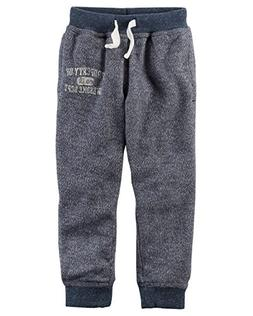 Carter's Toddler Boys' Marled French Terry Joggers, Blue, 5T