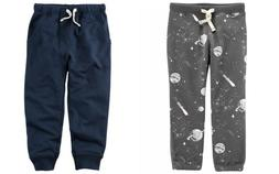 Carters Toddler Boys TWO Pair Pull-on Joggers - Navy & Gray