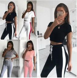 Casual Tracksuit Slim Short Sleeve Hooded Sets Joggers Wear