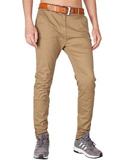 ITALY MORN Men's Chino Business Flat Front Casual Pants L Da