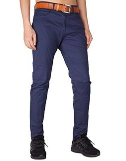 ITALY MORN Men's Chino Business Wear Flat Front Casual Pants