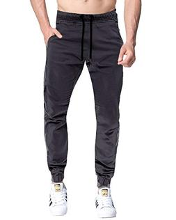 MODCHOK Men's Chino Cargo Pants Casual Pockets Slim Fit Jogg
