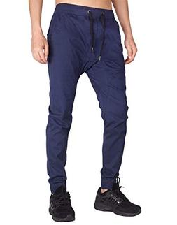 ITALY MORN Men's Chino Jogger Sweatpants Casual Pants M Navy