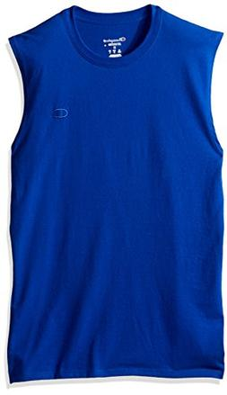 Champion Men's Classic Cotton Muscle Tee Surf The Web S