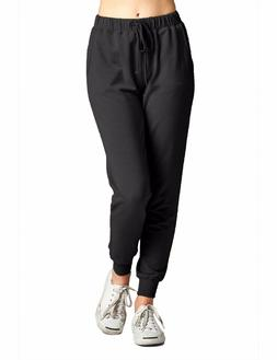 *CLEARANCE* KOGMO Womens Two Tone French Terry Jogger Pants