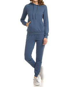 ClothingAve. Women's French Terry Hoodie and Jogger Pants Sw