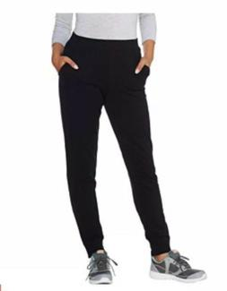 Denim & Co Active Regular Jogger Pants with Zipper Detail 2X