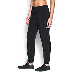 Under Armour Women's Easy Studio Pant, Black /Silver, Small
