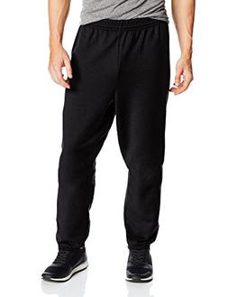 Hanes Men's EcoSmart Fleece Sweatpant, Black, Small