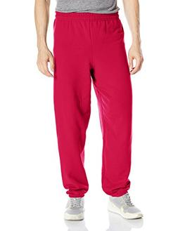 Hanes ComfortBlend Fleece Pant p650, Deep Red, Large